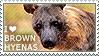 I love Brown Hyenas by WishmasterAlchemist