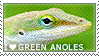 I love Green Anoles by WishmasterAlchemist