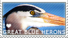 I love Great Blue Herons by WishmasterAlchemist