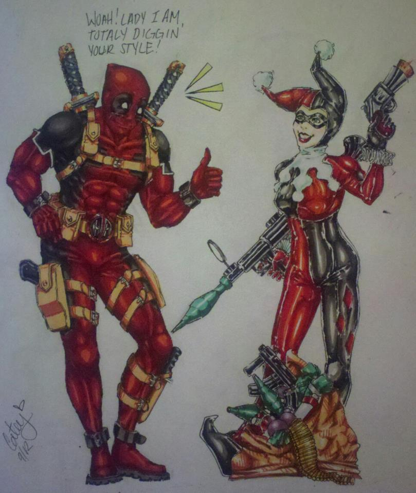 Pin deadpool and harley so instead of stupid graffiti in - Deadpool harley quinn ...