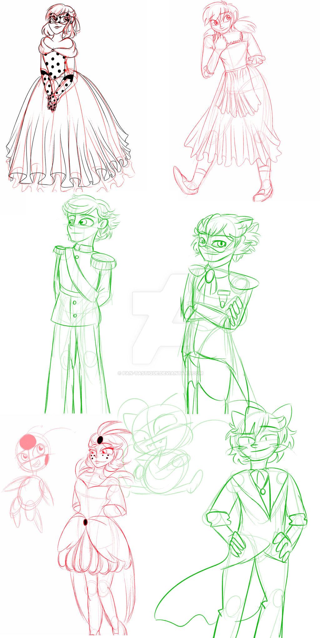 .:Cinderella AU Character Sketches:.