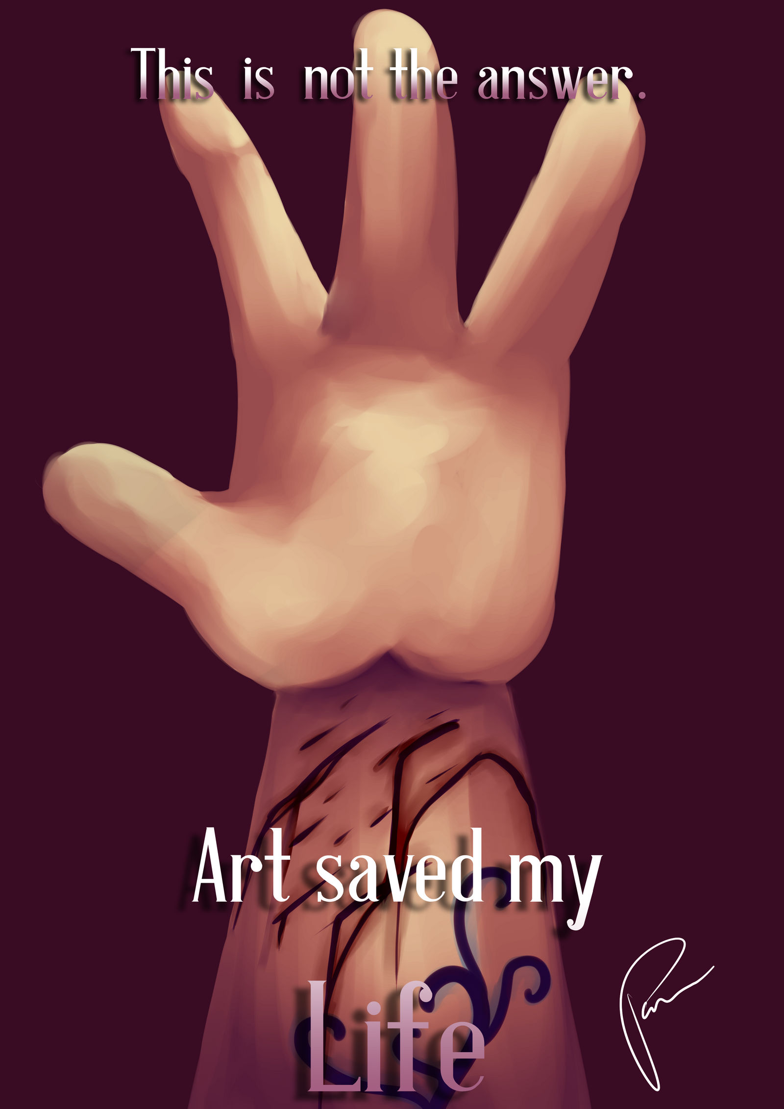 .:Art Saved My Life:. (Cover)