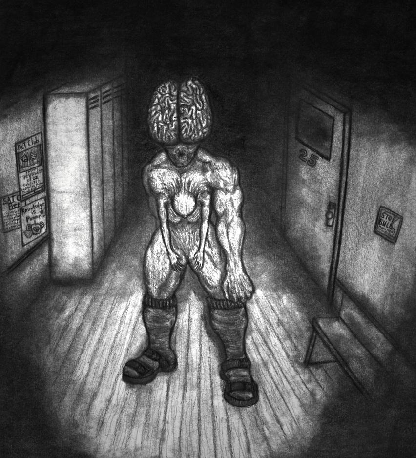 Grotesque Brainchild Demon by Pyramiddhead