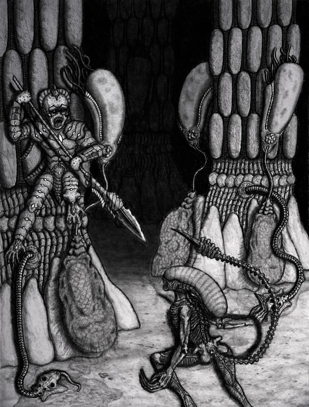 Alien Hive Battle Scene by Pyramiddhead on DeviantArt