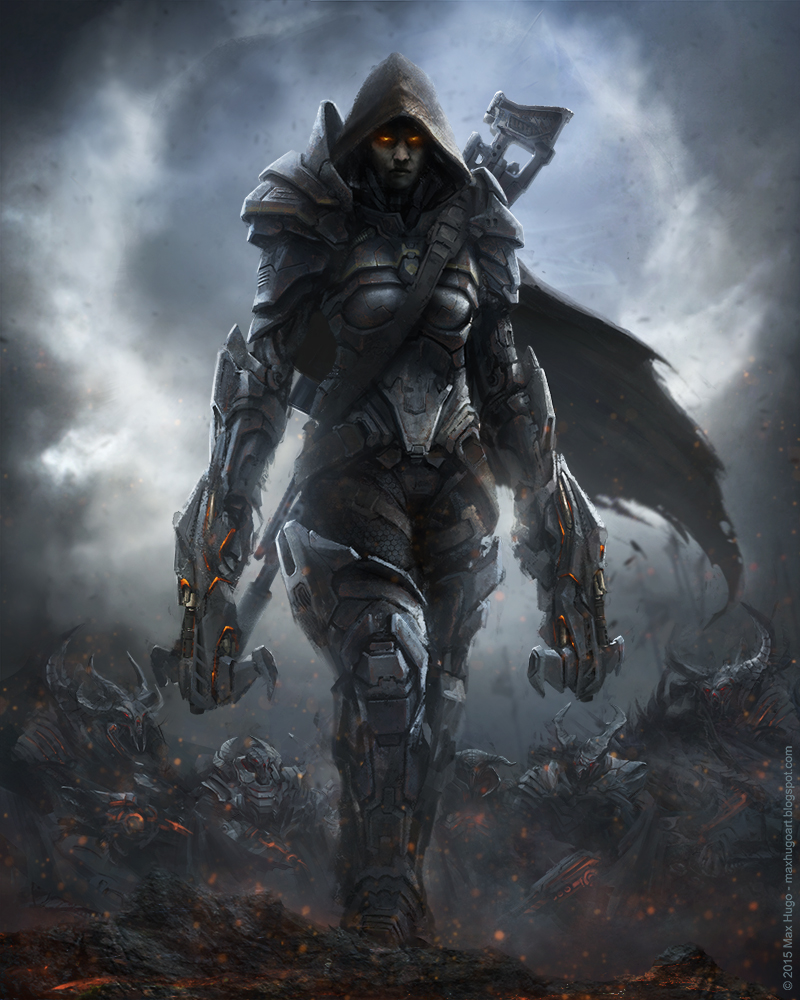 Scifi Demon Hunter by m-hugo