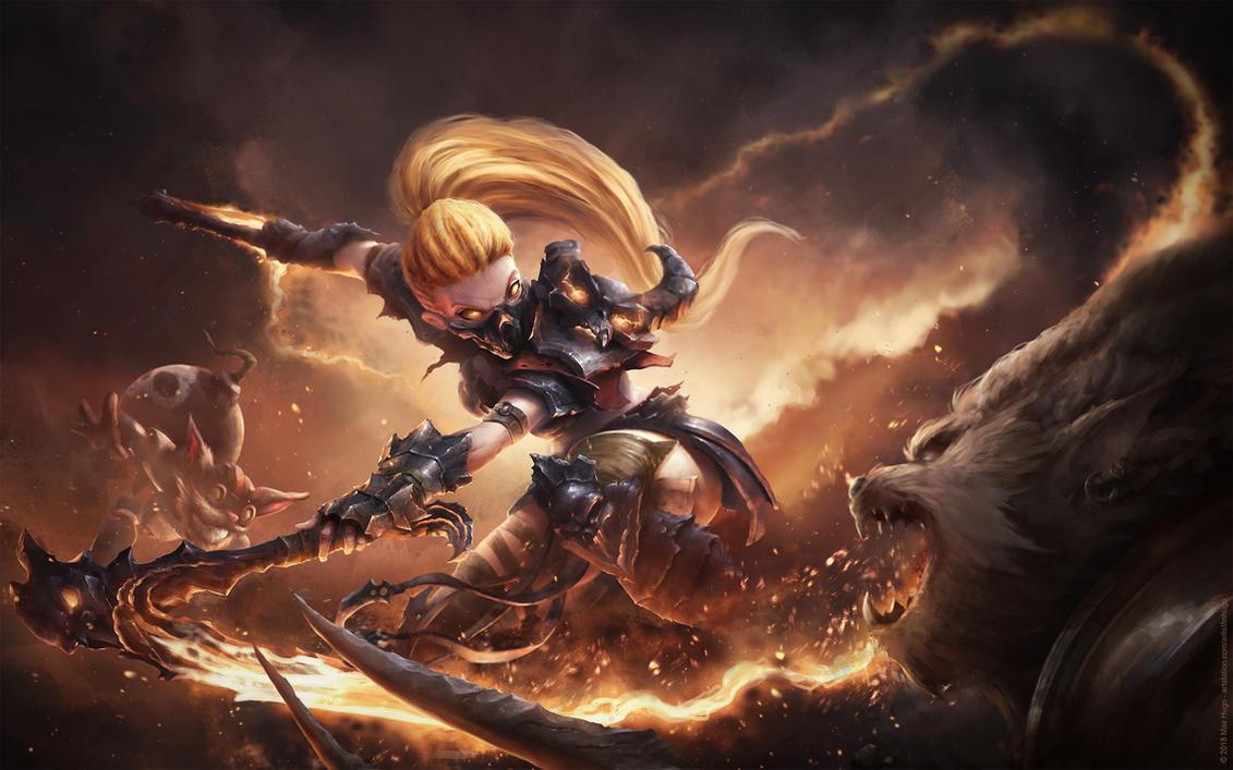 Hellfire Akali by m-hugo