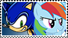SonicxRainbow Dash stamp by DivineSpiritual