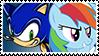 SonicxRainbow Dash stamp by DivineSpiritual