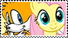 TailsxFluttershy stamp by DivineSpiritual