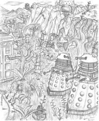 Doctor Who - Daleks on Kembel by RadicalEdward2