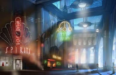 BioShock Infinite: Market Street Progression 2/3 by RadicalEdward2