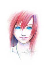 Kingdom Hearts Crayon Kairi by ItsBirdyArt