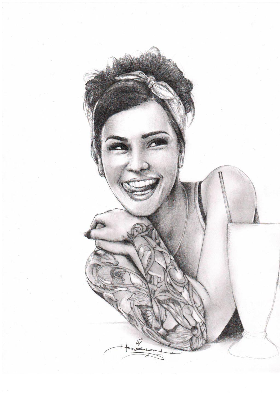 50's Girl by ItsBirdyArt on DeviantArt