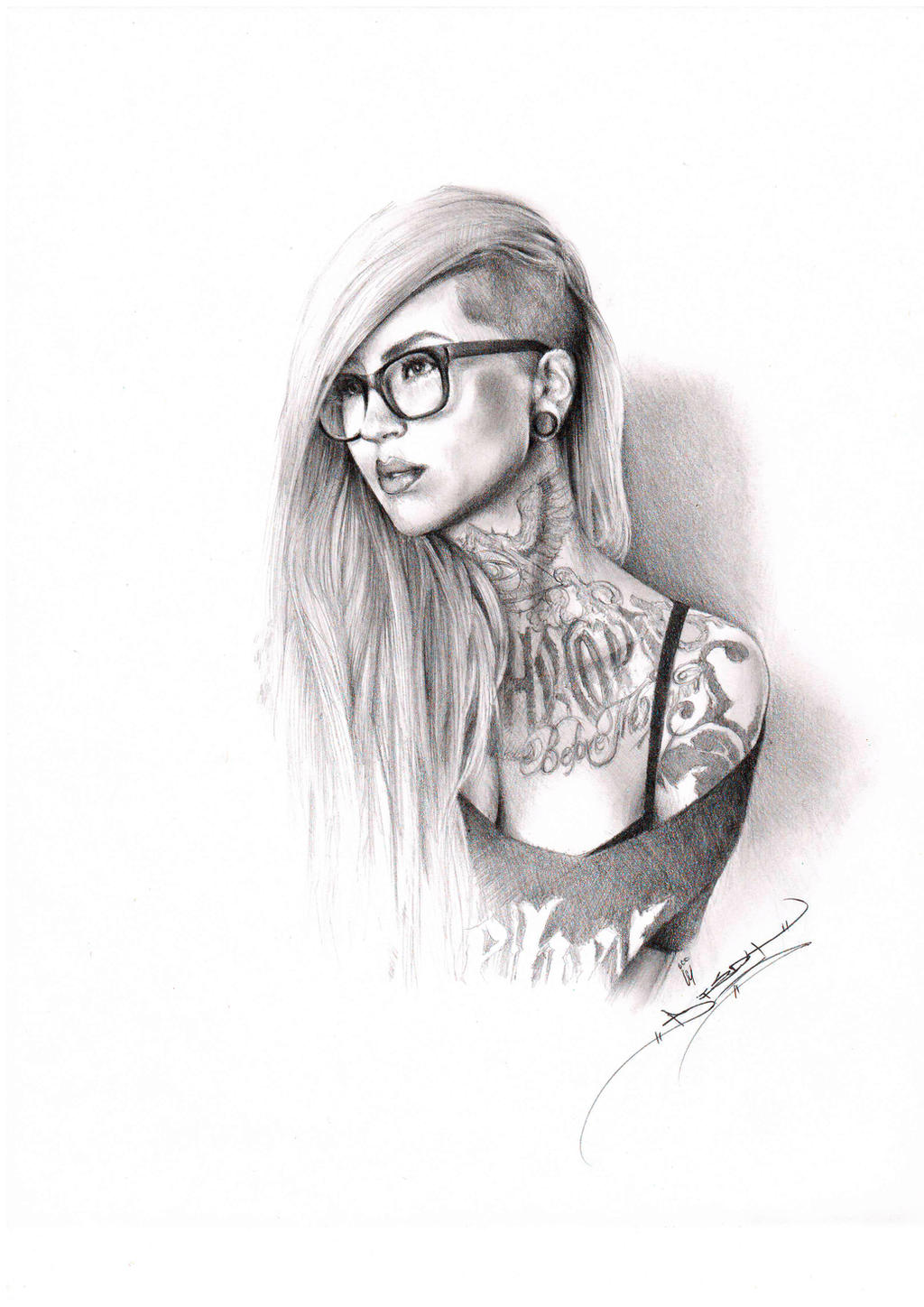 Portraiture of the Beautiful Sara Fabel by ItsBirdyArt