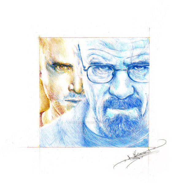 Jesse and Walt by ItsBirdyArt