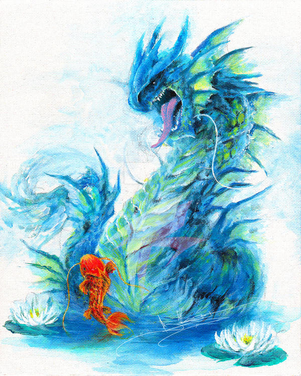Story Of The Koi Dragon By Itsbirdyart On Deviantart