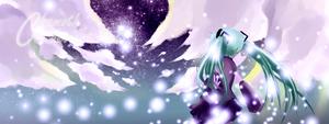 Miku and Stars by chamoth143