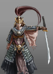 Female Sumarai Warrior by chamoth143