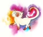 Gatito y pajarito