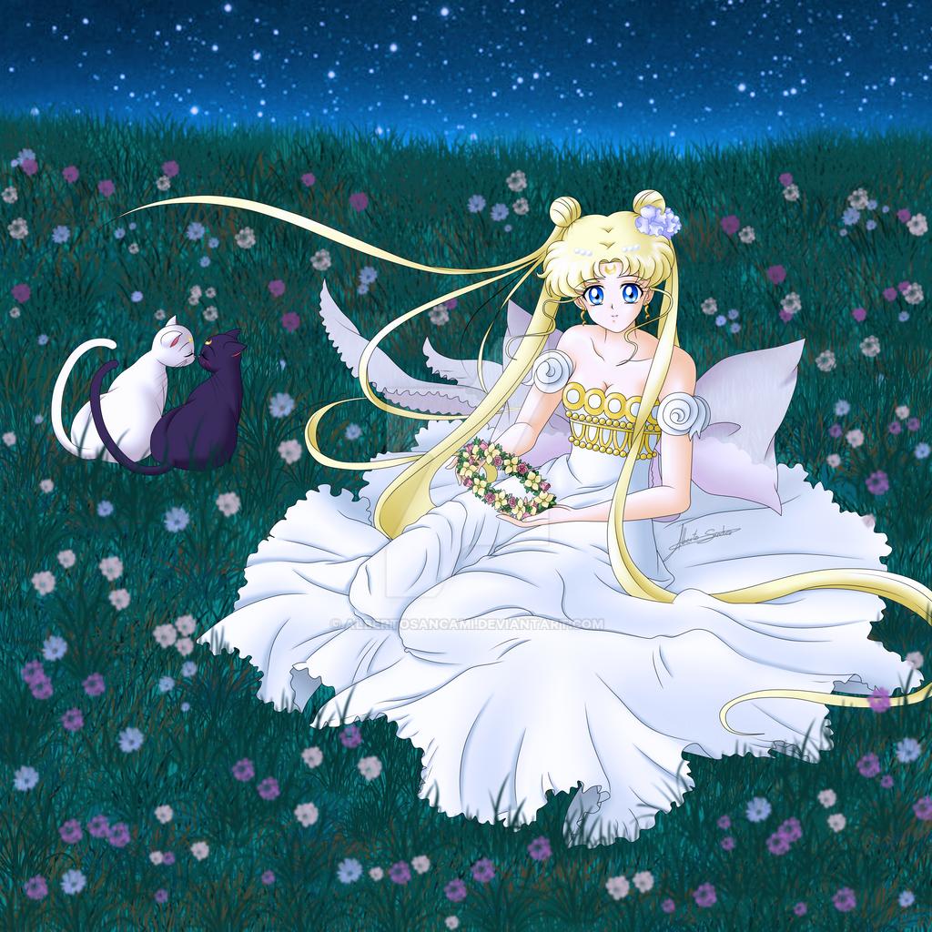 ANUNCIADO EL 3R ARCO DE SAILOR MOON CRYSTAL - Página 6 Sailor_moon_crystal___princess_serenity__blonde__by_albertosancami-d8v882f