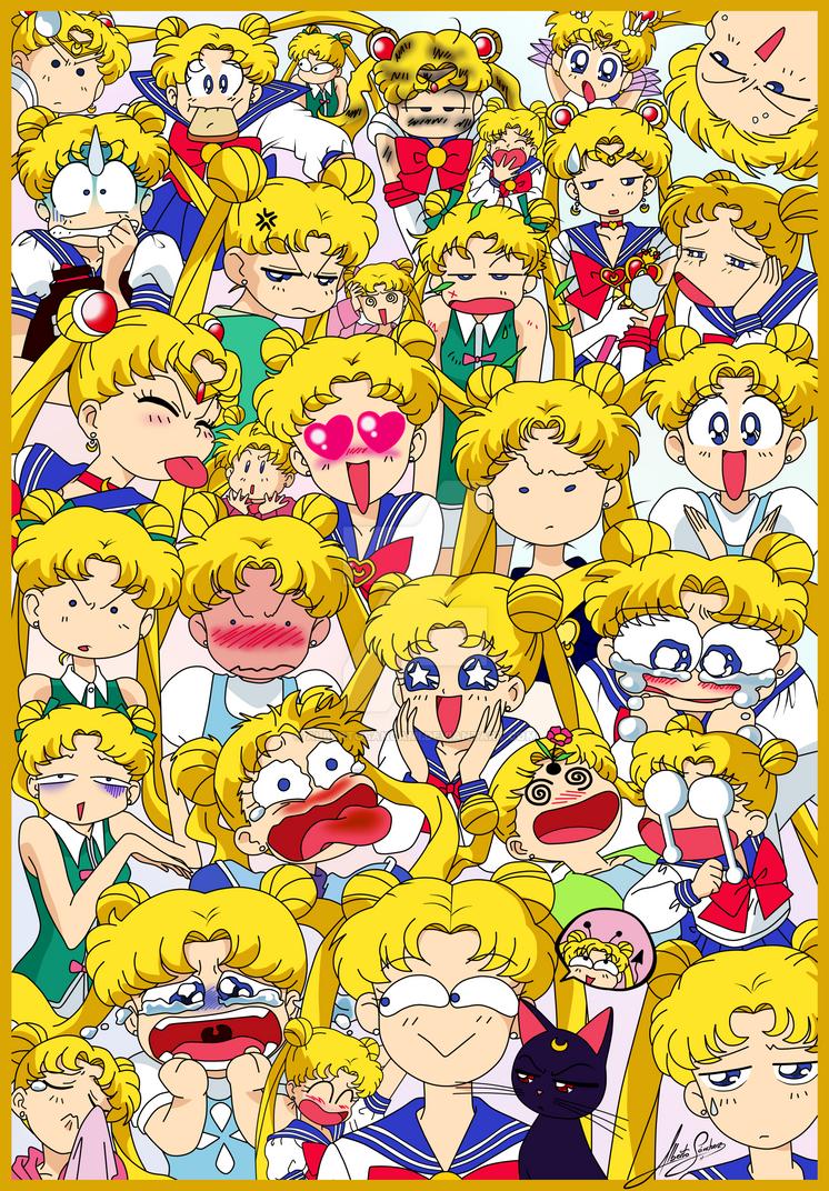 Usagi faces by AlbertoSanCami