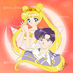 Neo queen Serenity And King Endymion (Comission)