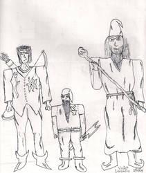 Um elfo, um anao e um humano