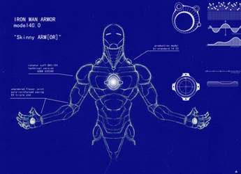 Iron Man Blue Print by degreehan