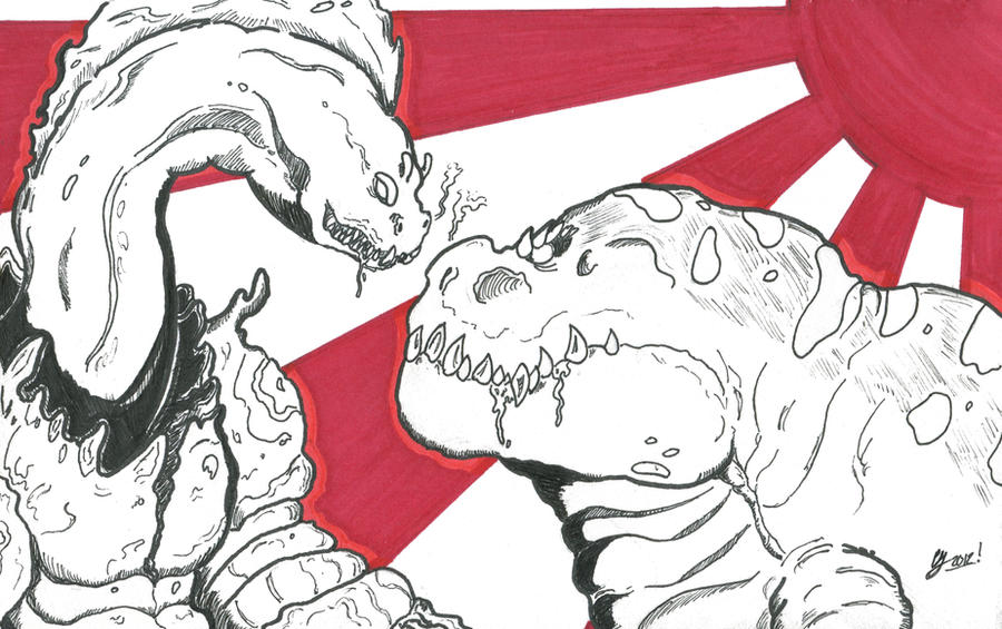 Kaiju Combat! Moratitan vs Macrosaurus by Hedorah1971