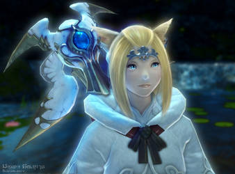 FFXIV - Nique with her Thyrus by NiqueAmrita
