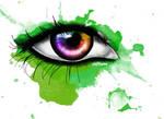 Rainbow Eye Digital Painting