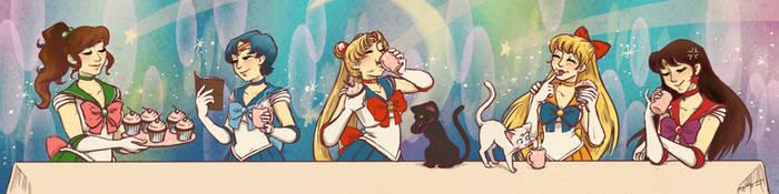 Bishoujo Senshi Sailor Moon Tea Party by paigehwarren