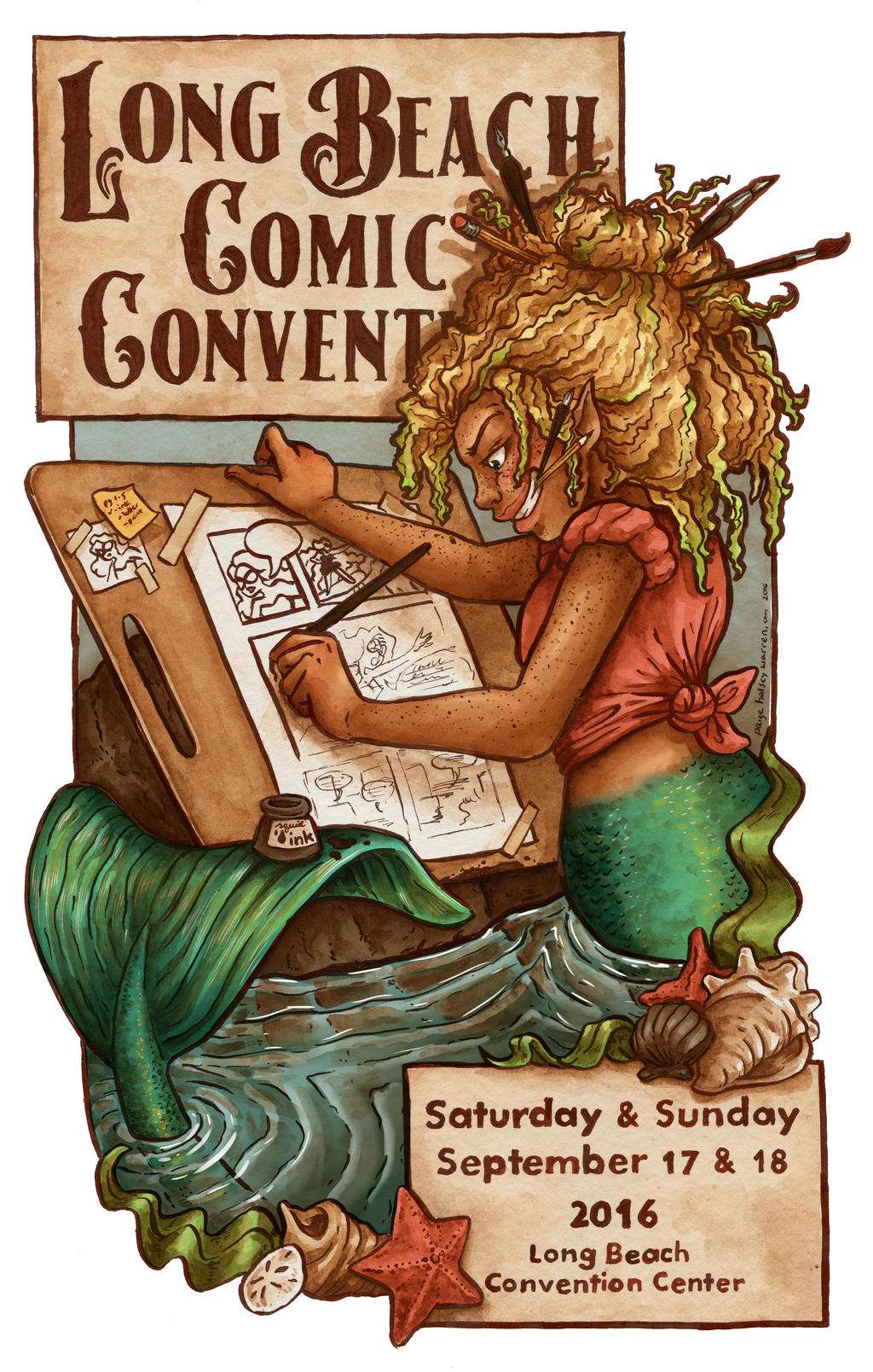 Long Beach Comic Con Poster 2016 by paigehwarren