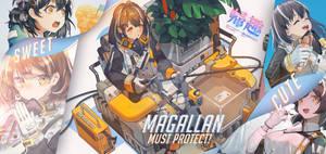 Magallan from Arknights
