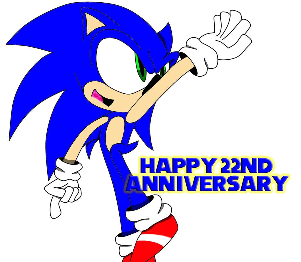 happy 22nd anniversary sonic by lugiaboythepony fan art digital art ...