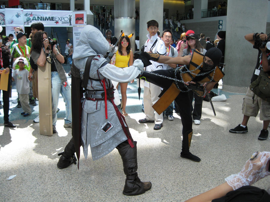 Ezio vs Scorpion by AijiS