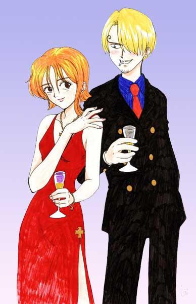 Casamento com NAMI [A HISTÓRIA] - Para a Igreja DigimonAT [Uma espécie de HQ XD] Sanji_and_Nami
