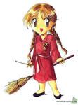 Chibi Gryffindor quidditch player