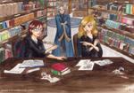Hester and Tina - Hogwarts library