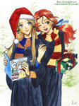 Christmas Luna and Ginny