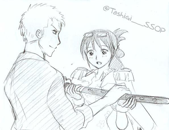 Zoro and Tashigi - Shusui by Alkanet