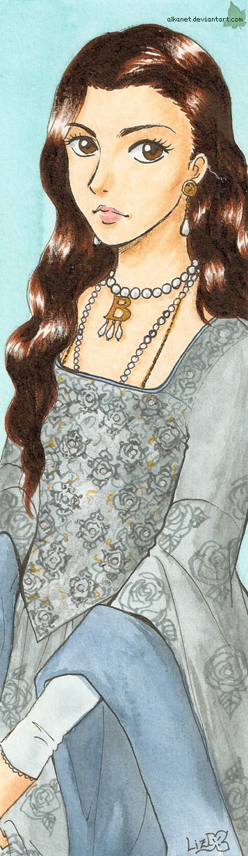 Anne Boleyn bookmark by Alkanet