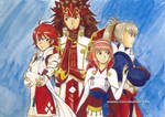 Fire Emblem Fates - Hoshido siblings by Alkanet
