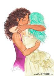 A hug - OC commission