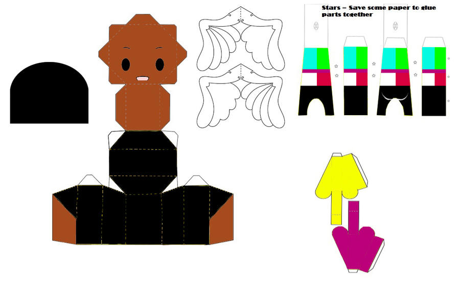 Dance Central Mo Papercraft Template By Ricecooker On Deviantart
