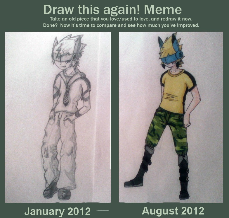 Draw This Again! Meme - Lin january/august by BlackChesireWolf