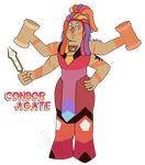 Condor Agate~ Jasper and Bismuth Fusion