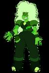 Chrome Diopside (Sapphire and Jasper)