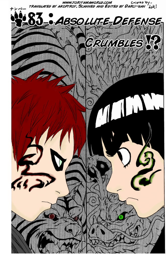 Gaara vs. Lee by Loki-rei