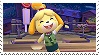 Assist Trophy: Isabelle Stamp by GameAndWill